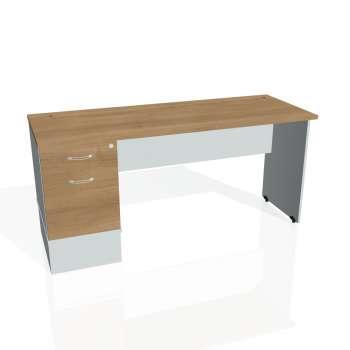 Psací stůl Hobis GATE GEK 1600 22, višeň/šedá
