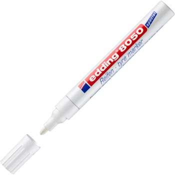Popisovač na gumové povrchy Edding 8050 - bílá
