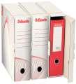 Archivační krabice na pořadače Esselte - 9,1 x 30 x 35,6 cm, bílá