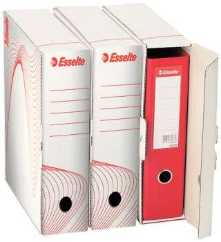 Archivační krabice na pořadače Esselte - 9,7 x 35,5 x 30,0 cm, bílá