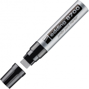 Popisovač lakový Edding 8700 Jumbo, stříbrný