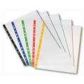 """Závěsné """"U"""" obaly s barevným okrajem Herlitz - A4, 70 mikronů, hladké, čiré, 10 ks"""