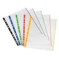 """Závěsné """"U"""" obaly s barevným okrajem Herlitz - A4, 70 mikronů, hladké, čiré, 50 ks"""