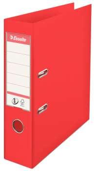 Plastový pákový pořadač Esselte VIVIDA - A4, s kapsou, hřbet 7,5 cm, červený