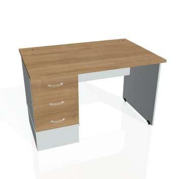 Psací stůl Hobis GATE GSK 1200 23, višeň/šedá