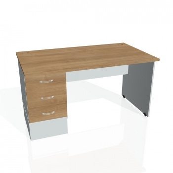 Psací stůl Hobis GATE GSK 1400 23, višeň/šedá