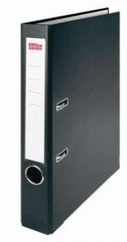Pákový pořadač Office Depot - A4, s kapsou, kartonový, hřbet 5 cm, černý