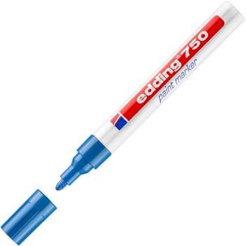 Popisovač lakový Edding 750 - modrá