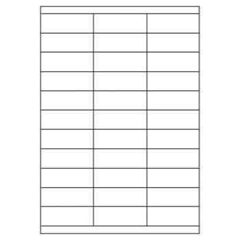 Samolepicí etikety - 70,0 x 25,0 mm