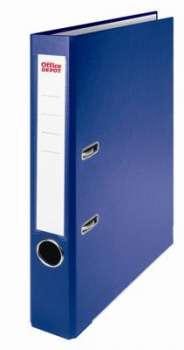 Pákový pořadač Office Depot - A4, s kapsou, kartonový, hřbet 5 cm, modrá