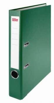 Pákový pořadač Office Depot - A4, s kapsou, kartonový, hřbet 5 cm, zelený