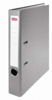 Pákový pořadač Office Depot - A4, s kapsou, kartonový, hřbet 5 cm, šedá