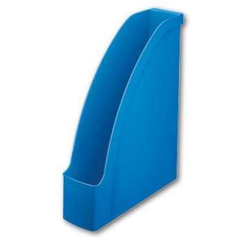Stojan na časopisy LEITZ PLUS - plastový, světle modrý