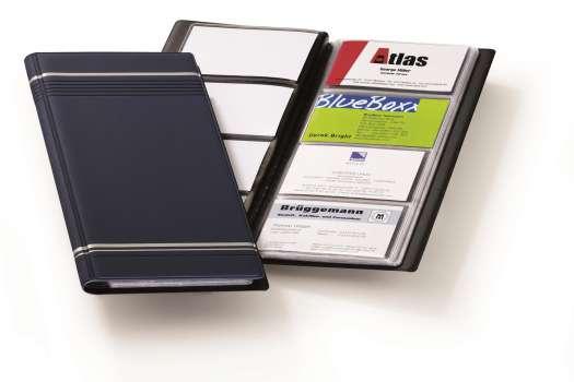 Vizitkář Durable - 96 vizitek, lepený, tmavě modrý