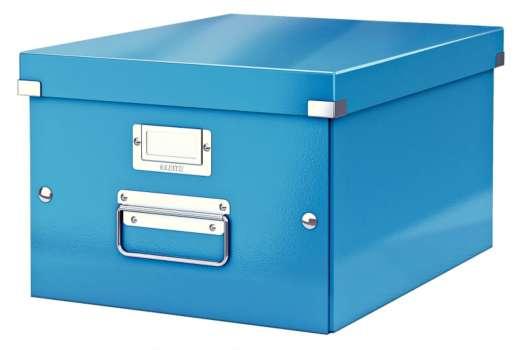 Krabice LEITZ WOW Click-N-Store - A4, univerzální, modrá