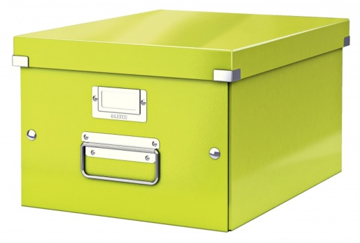 Krabice LEITZ WOW Click-N-Store - A4, univerzální, zelená