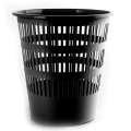 Odpadkový koš Donau - 12 l, černá