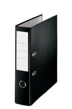 Pákový  pořadač  Economy - kartonový, šíře hřbetu 7,5 cm, černý
