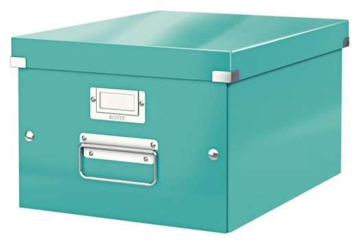 Archivační krabice LEITZ WOW Click-N-Store - A4, univerzální, ledově modrá