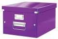 Archivační krabice LEITZ WOW Click-N-Store - A4, univerzální, purpurová
