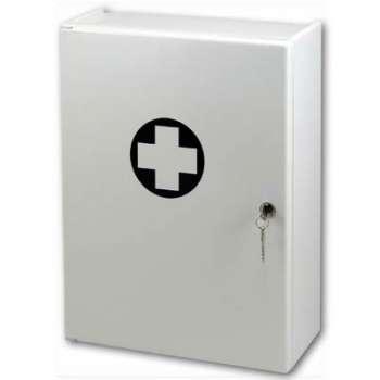 Nástěnná lékárnička - náplň Standard, bílá
