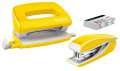 Sada mini sešívačky a děrovačky Leitz WOW - žlutá