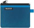 Dvojitá textilní kapsa, Leitz WOW - malá, modrá