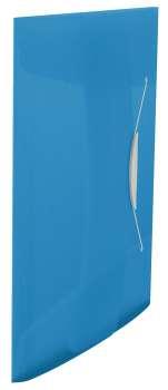 Desky na dokumenty s chlopněmi a gumičkou Esselte VIVIDA - A4, modrá
