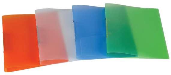 2kroužkový pořadač Donau - A4, šíře hřbetu 2,5 cm, transparentní mix barev