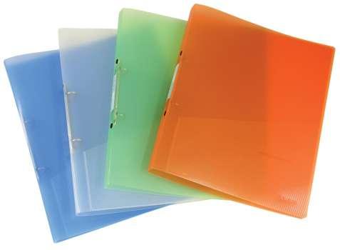 2kroužkový pořadač Donau - A4, šíře hřbetu 1,6 cm, transparentní mix barev