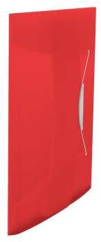 Desky na dokumenty s chlopněmi a gumičkou Esselte VIVIDA - A4, červená