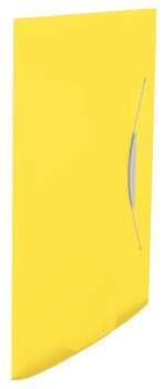 Desky na dokumenty s chlopněmi a gumičkou Esselte VIVIDA - A4, žlutá