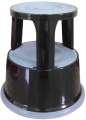 Kovový stupínek Q-Connect s kolečky - černý