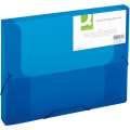 Box na spisy s gumičkou Q-Connect  - A4, transparentně modrý, 2,5 cm
