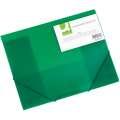 Desky Q-Connect A4 s gumičkou, transparentní, zelená