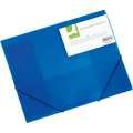 Box na spisy s gumičkou Q-Connect - A4, transparentně modrý, 3 cm