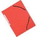 Desky s chlopněmi a gumičkou Q-Connect - A4, červené, 10 ks