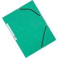 Desky s chlopněmi a gumičkou Q-Connect - A4, zelené, 10 ks