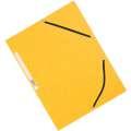 Desky s chlopněmi a gumičkou Q-Connect - A4,  žluté, 10 ks