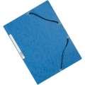 Desky s chlopněmi a gumičkou Q-Connect - modré