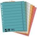 Papírové rozlišovače Q-Connect - A4, mix barev, 100 ks