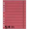 Papírové rozlišovače Q-Connect - A4, červené, 100 ks