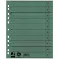 Papírové rozlišovače Q-Connect - A4, zelené, 100 ks