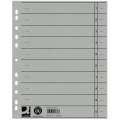 Papírové rozlišovače Q-Connect - A4, šedé, 100 ks