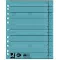 Papírové rozlišovače Q-Connect - A4, modré, 100 ks