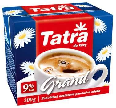 Mléko do kávy Tatra - Grand 9 % tuku, 200 g