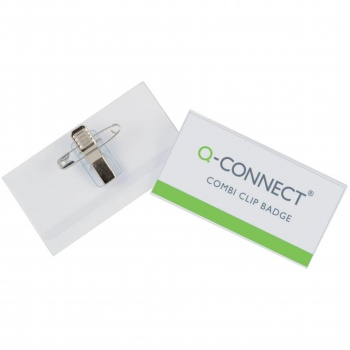 Visačka Q-Connect combi klip - 54 x 90 mm, 50 ks