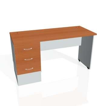 Psací stůl Hobis GATE GEK 1400 23, třešeň/šedá