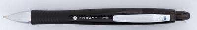 Kuličkové pero Foray Softgrip, černá