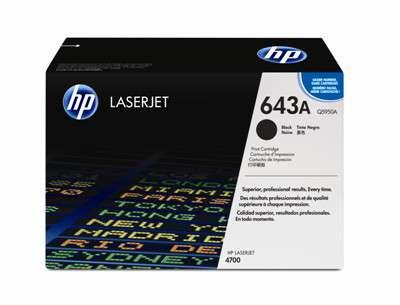 Toner HP Q5950A/643A - černá